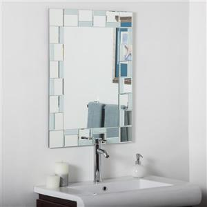 Luxo Marbre Quebec 23.6-in Rectangular Mirror