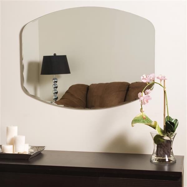 "Miroir sans cadre, 23,6"" x 31,5"", oval"