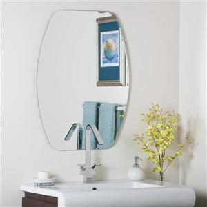 Decor Wonderland Frameless 23.6-in x 31.5-in Oval Mirror