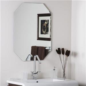 "Miroir sans cadre, 23,5"" x 31,5"", octogonal"