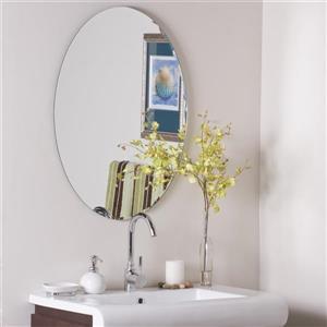"""Miroir, 23,6"""" x 31,5"""", oval"""