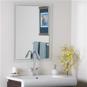 Decor Wonderland Frameless Mirror 23.6-in Bevelled