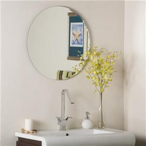 Decor Wonderland Frameless 23.6-in Round Mirror