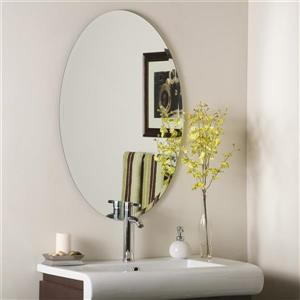 Decor Wonderland 23.6-in Frameless Oval Mirror