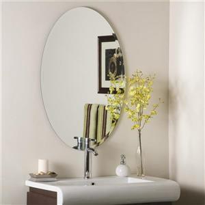"Miroir sans cadre, 23,6"", oval"