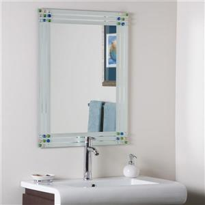 Decor Wonderland Bejeweled 23.6-in Rectangular Mirror