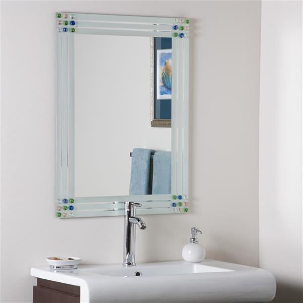 Miroir Bejeweled, 23,6 po, rectangulaire