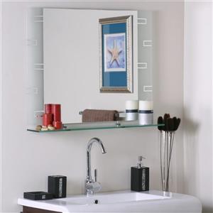 """Miroir sans cadre, 31,5"""", rectangulaire, poli"""