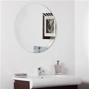 Decor Wonderland Bryn Round Mirror 27.6-in