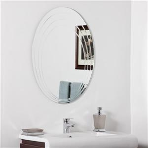 Decor Wonderland Hanna 23.6-in Oval Mirror