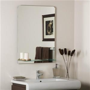 Luxo Marbre 35.5-in x 29.5-in MDF Light Grey Classic Mirror