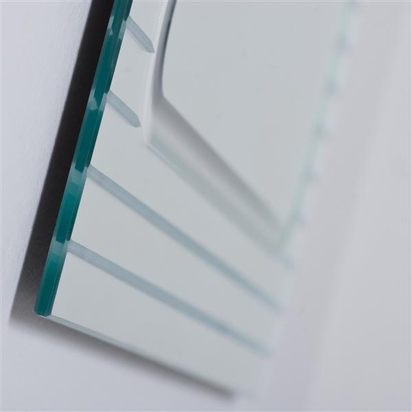 Decor Wonderland Frameless 23.6-in Rectangular V-groove Mirror