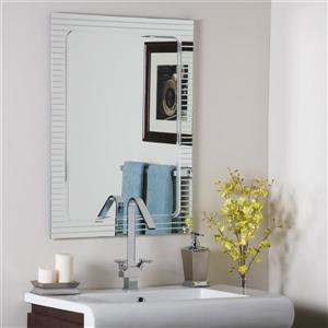 Decor Wonderland Frameless 23.6-in Rectangular V-groove Mirror