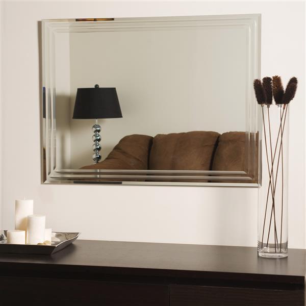 """Miroir sans cadre, 23,6 x 31,5"""", biseauté"""