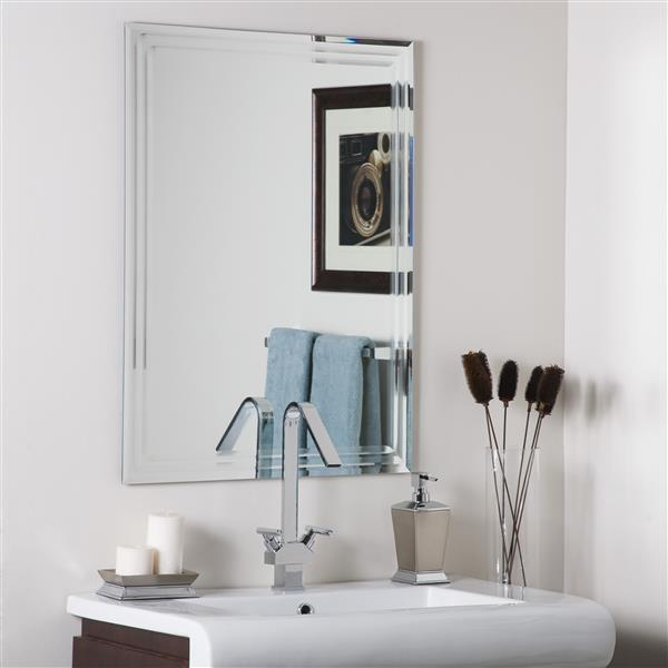 Decor Wonderland Frameless 23.6-in x 31.5-in Bevelled Mirror