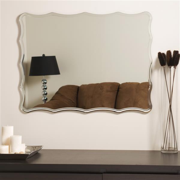 """Miroir sans cadre, 23,6"""", gravé"""