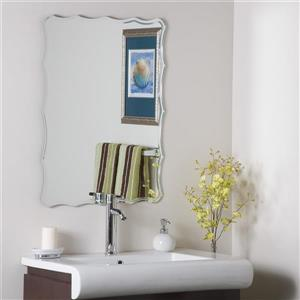 Decor Wonderland Frameless Engraved Mirror 23.6-in