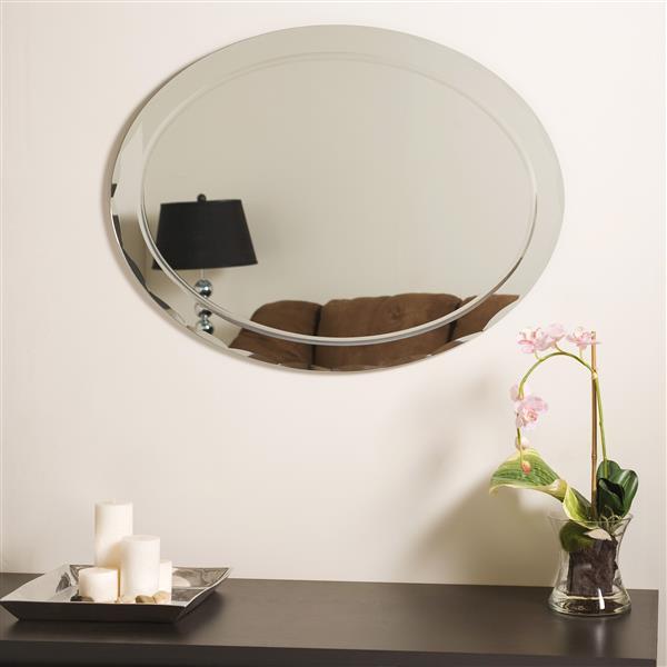 "Miroir sans cadre, 23,5"", oval"