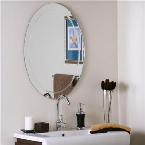 Decor Wonderland Frameless Oval Mirror 23.5-in