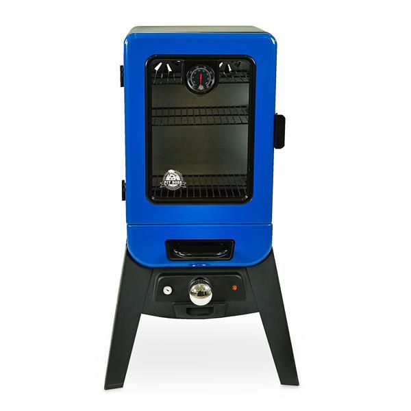 Fumeur électrique analogique Pit Boss, série 2, bleu
