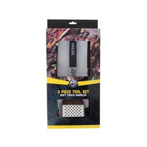 Jeu d'outils avec poingnées à surface douce Pit Boss, 3 mcx