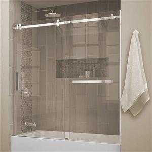 """Porte de bain coulissante """"Quartz""""avec porte-serviettes, 60"""""""