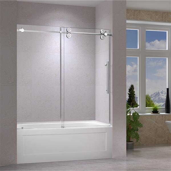 Jade Bath Porte De Baignoire Coulissante Zirkon 60 6492
