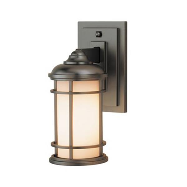 Feiss Lighthouse 5-in x 6.25-in Burnished Bronze Outdoor Sconce