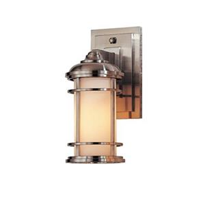 Feiss Lighthouse 5-in x 6.25-in Brushed Steel Outdoor Sconce.