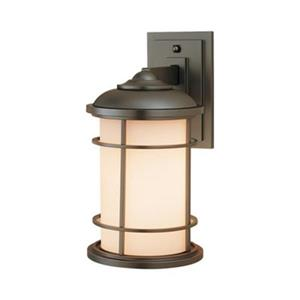 Feiss Lighthouse 7-in x 9-in Burnished Bronze Outdoor Sconce.