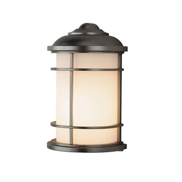 Feiss Lighthouse 7-in x 4.25-in Burnished Bronze Outdoor Sconce