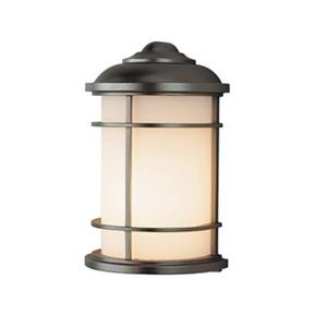 Feiss Lighthouse 7-in x 4.25-in Burnished Bronze Outdoor Sconce.