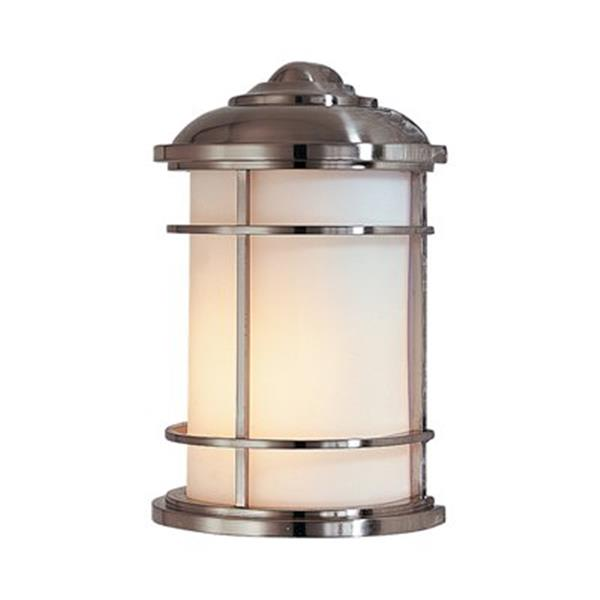 Feiss Lighthouse 7-in x 4.25-in Brushed Steel Outdoor Sconce