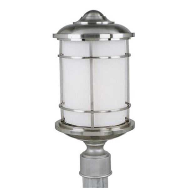 Feiss Lighthouse Brushed Steel Post Mount Light