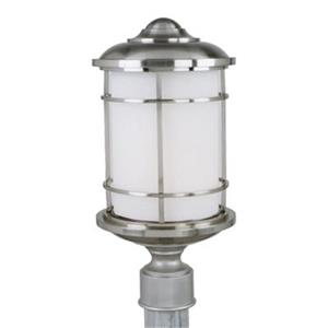 Feiss Lighthouse Brushed Steel Post Mount Light.