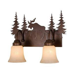 Cascadia Lighting Yellowstone Burnished Bronze 2-Light Bathroom Vanity Light