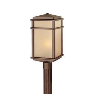 Feiss Mission Lodge Corinthian Bronze Post Mount Light