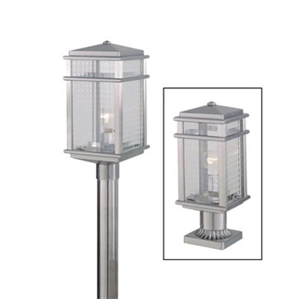 Feiss Mission Lodge Brushed Aluminum Post Mount Light