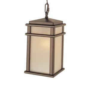 Feiss Mission Lodge Collection 7-in x 13.5-in Corinthian Bronze Rectangular Pendant Light