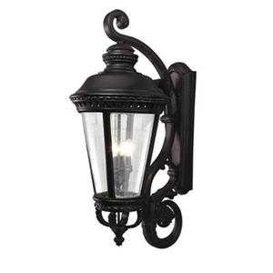 Feiss Castle 37.25-in Black 4-Light Outdoor Sconce.