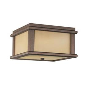 Feiss Mission Lodge Bronze 2-Light Outdoor Flush Mount Light