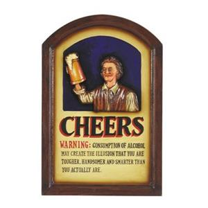 RAM Game Room 24-in x 16-in Cheers Sign