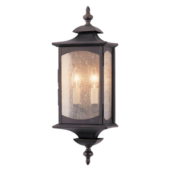 Feiss Market19-in Oil Rubbed Bronze Square Outdoor Wall Sconce