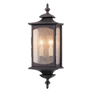 Feiss Market19-in Oil Rubbed Bronze Square Outdoor Wall Sconce.