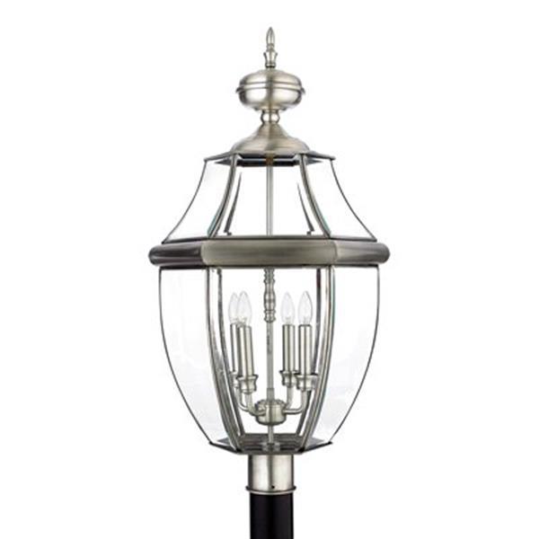 Quoizel Grohe Quoizel Newbury 3-Light Pewter Post Mount Light