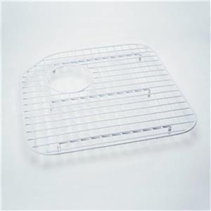 Rohl 17-in x 17-in White Large Wire Grid Kitchen Sink Rack