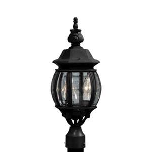 Artcraft Lighting Classico  3-Light Black Post Mount Light