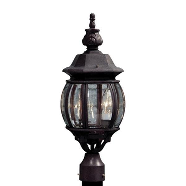 Artcraft Lighting Classico 3-Light White Post Mount Light