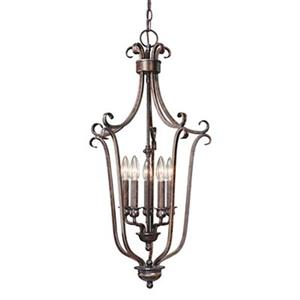 Cascadia Lighting Mont Blanc Collection 16-in x 30.75-in Aztec Bronze 5-Light Foyer Light