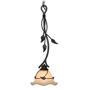 Cascadia Vine Black Rustic Mini Pendant Ceiling Light
